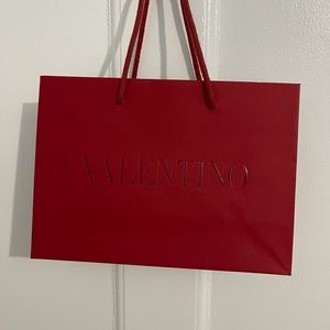 Authentic Valentino paper gift bag
